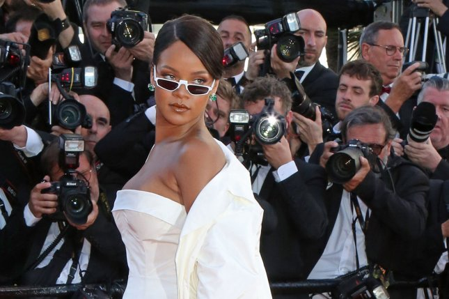 Rihanna attends the Cannes International Film Festival screening of Okja on May 19. File Photo by David Silpa/UPI