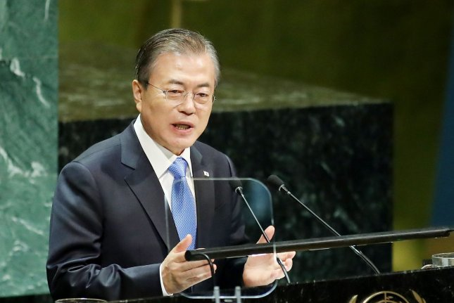 South Korean President Moon Jae-in has championed technological innovation under his Digital New Deal policy amid the coronavirus pandemic. File Photo by Monika Graff/UPI
