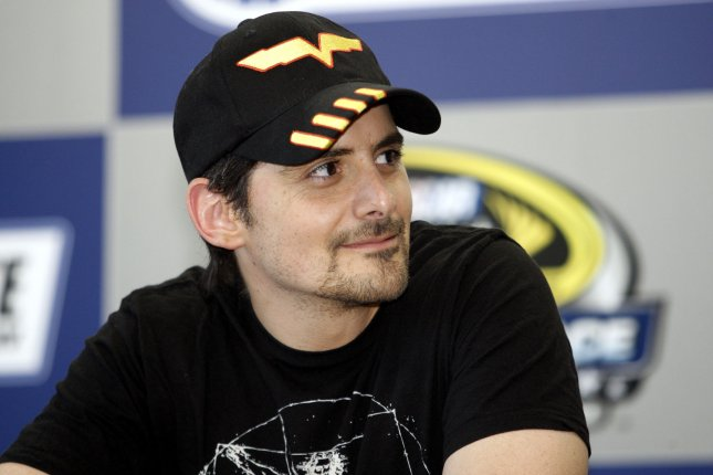 Country singer Brad Paisley answers questions during a press conference before the NASCAR Sprint Cup Series All-Star Race at the Charlotte Motor Speedway in Concord, North Carolina on May 21, 2010. Paisley's latest music video is making it's premiere at the race. UPI/Nell Redmond .