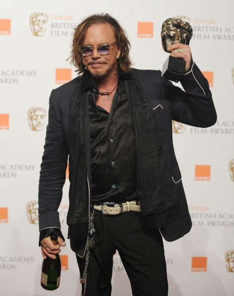 American actor Mickey Rourke attends the press room at the Orange British Academy Film Awards at the Royal Opera House in London on February 8, 2009. (UPI Photo/Rune Hellestad)