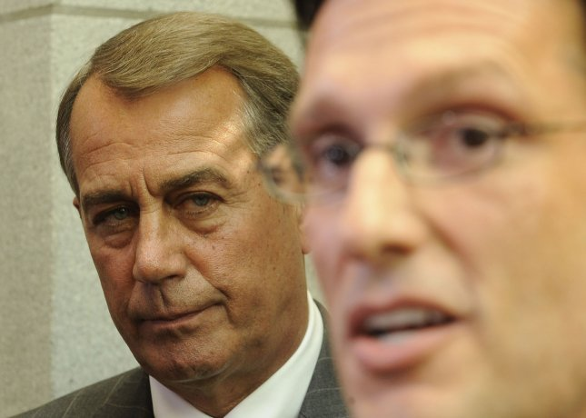 Speaker of the John Boehner, R-OH, and House Majority Leader Eric Cantor, R-VA, two of the most outspoken critics of Obama's stance on the debt ceiling. UPI/Roger L. Wollenberg