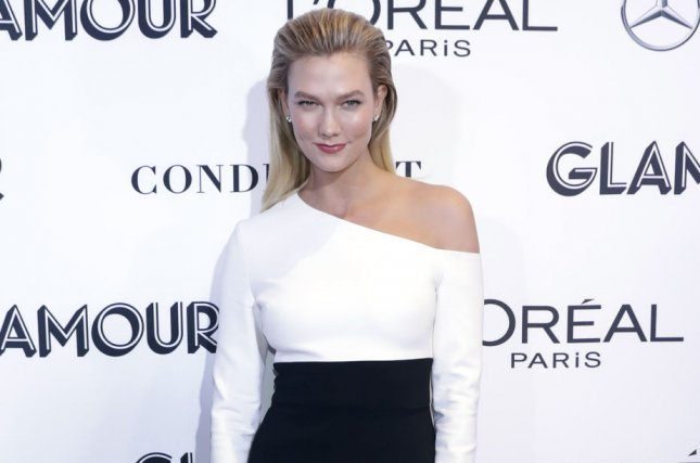 Karlie Kloss shared a behind-the-scenes video from the new Project Runway set. File Photo by Jason Szenes/UPI