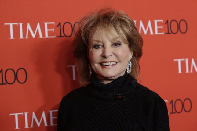 Barbara Walters arrives on the red carpet at the TIME 100 Gala at Lincoln Center in New York City on April 21, 2015. The journalist turns 90 on September 25. File Photo by John Angelillo/UPI