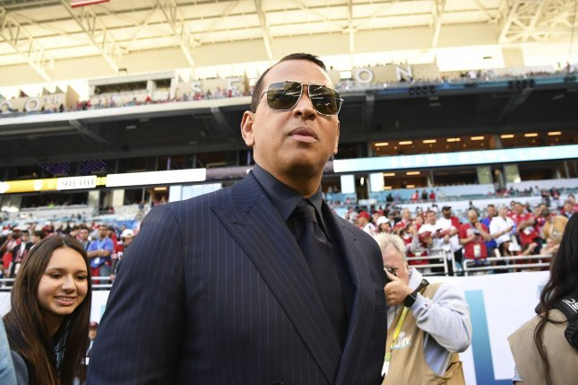 New York Yankees great Alex Rodriguez would need to be part of an ownership group if he decided to purchase the New York Mets. File Photo by Kevin Dietsch/UPI