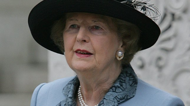 Former Prime Minister Margaret Thatcher, dubbed the Iron Lady, is dead at age 87. 2005 file photo. (UPI Photo/Hugo Philpott)