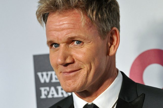 Gordon Ramsay arrives for the Elton John AIDS Foundation Academy Awards Viewing Party at West Hollywood Park in Los Angeles on March 2, 2014. (File/UPI/Christine Chew)