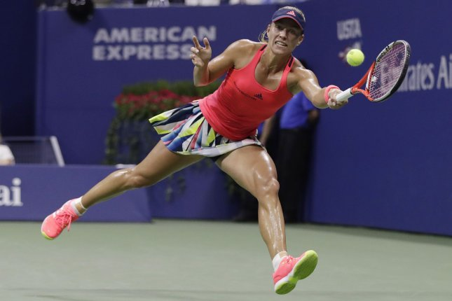 Angelique Kerber of Germany, shown here at the US Open in 2016, suffered a historic loss at the French Open, becoming the first women's No. 1 seed to lose in the first round in the Open Era. File photo by John Angelillo/UPI