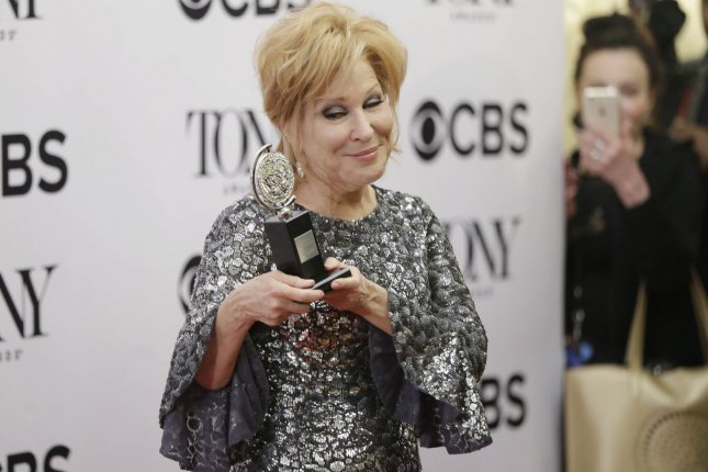 Bette Midler, winner of the award for Best Actress in a Musical for Hello, Dolly!, arrives in the press room at Radio City Music Hall on June 11 in New York City. Photo by John Angelillo/UPI