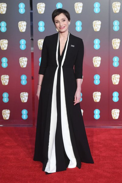 Kristin Scott Thomas attends The British Academy Film Awards at the Royal Albert Hall in London on February 18, 2018. The actor turns 60 on May 24. File Photo by Paul Treadway/UPI