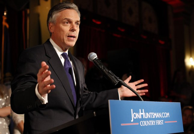 Former Utah Gov. Jon Huntsman in Manchester, N.H., Jan. 10, 2012. UPI/Matthew Healey