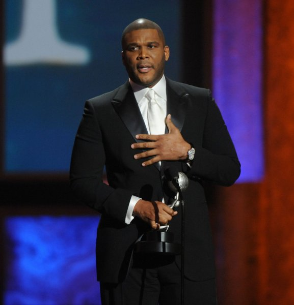 Tyler Perry accepts the Chairman's Award during the 41st NAACP Image Awards at the Shrine Auditoreum in Los Angeles on February 26, 2010. UPI/Jim Ruymen