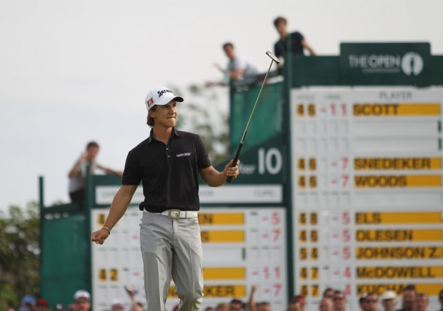 Thorbjorn Olesen, shown in a 2012 file photo, teamed with Mikko Ilonen for a win that helped Continental Europe take the leads after Thursday's play for the Seve Cup. UPI/Hugo Philpott