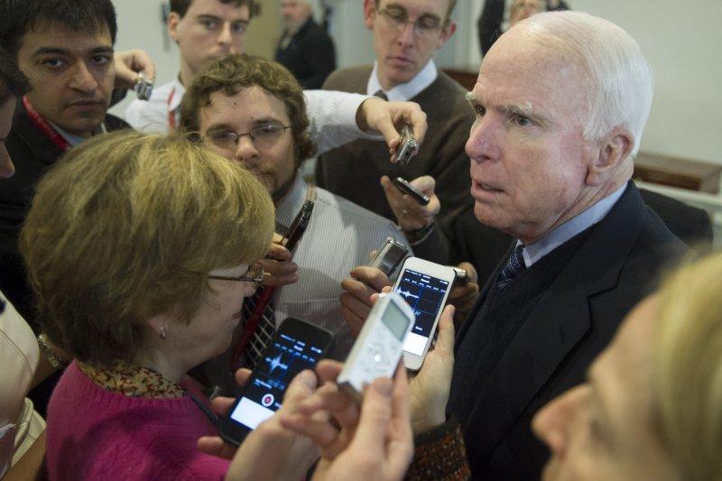 Sen. John McCain. UPI/Kevin Dietsch