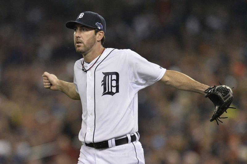 Detroit Tigers' Justin Verlander. UPI/Brian Kersey