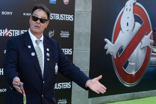 Producer Dan Aykroyd attends the premiere of the motion picture comedy Ghostbusters at TCL Chinese Theatre in the Hollywood section of Los Angeles on July 9. The actor turns 65 on Saturday. File Photo by Jim Ruymen/UPI