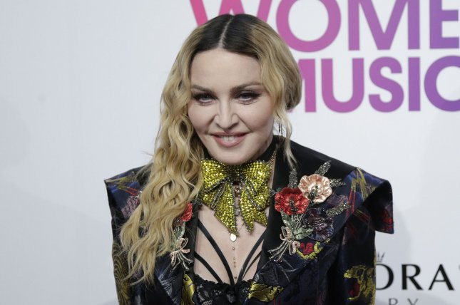 Pop star Madonna is injured and has canceled her planned concert in Miami.  File Photo by John Angelillo/UPI