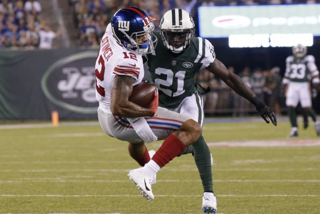 Former New York Giants wide receiver Cody Latimer (12) recorded 24 receptions for 300 receiving yards and two touchdowns last season. File Photo by John Angelillo/UPI