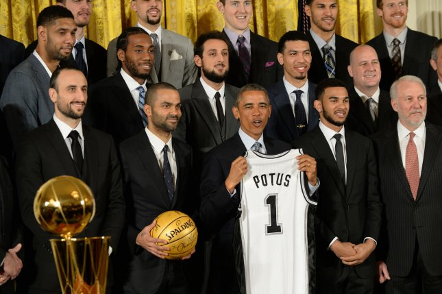 newest a4237 17616 San Antonio Spurs honored by Obama at the White House - UPI.com