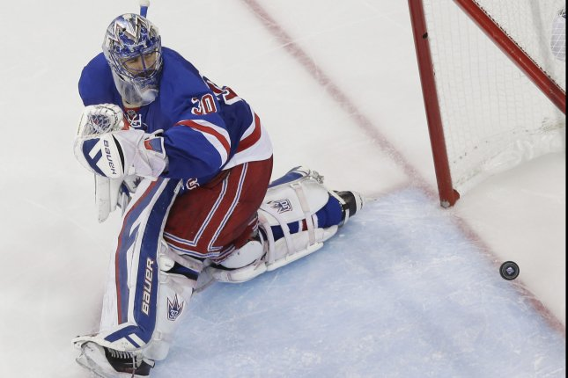 New York Rangers' Henrik Lundqvist. Photo by John Angelillo/UPI