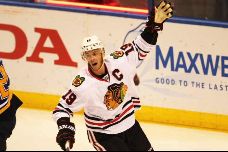 Chicago Blackhawks' Jonathan Toews. Photo by Bill Greenblatt/UPI