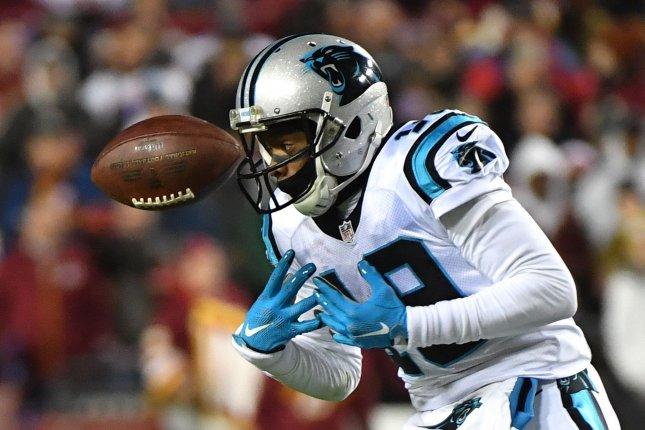 Carolina Panthers wide receiver Ted Ginn (19) drops a pass against the Washington Redskins in the second quarter at FedEx Field in Landover, Maryland on December 19, 2016. Photo by Kevin Dietsch/UPI