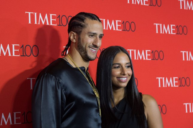 Colin Kaepernick (L) and Nessa arrive on the red carpet at the TIME 100 Gala at Frederick P. Rose Hall, Home of Jazz at Lincoln Center on April 26 in New York City. File Photo by Bryan R. Smith/UPI