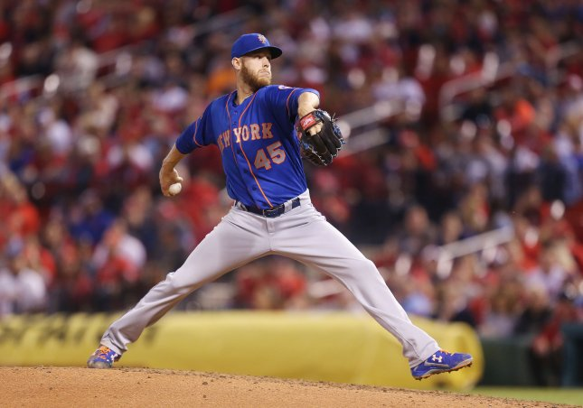 Zack Wheeler and the New York Mets face the Miami Marlins on Tuesday. Photo by Bill Greenblatt/UPI