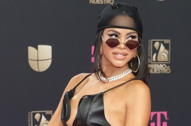 Natti Natasha was joined by Becky G to perform their song Ram Pam Pam on The Tonight Show. File Photo by Gary I Rothstein/UPI