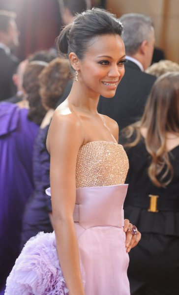 Actress Zoe Saldana arrives at the 82nd annual Academy Awards in Hollywood on March 7, 2010. UPI/Jim Ruymen
