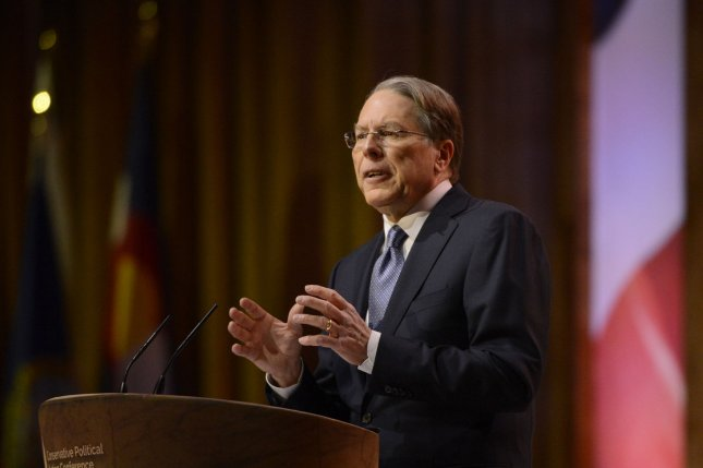 Executive Vice President and CEO of the National Rifle Association (NRA) Wayne LaPierre delivers remarks during the 2014 Conservative Political Action Conference (CPAC). (Molly Riley/UPI)