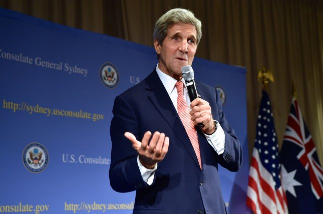 U.S. Secretary of State John Kerry speaks at the U.S. embassy in Australia in 2014. Kerry unveiled the State Department's annual report on global human rights abuses and reiterated the U.S. policy against torturing people. File photo courtesy Department of State