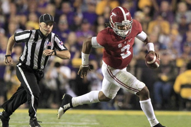 Alabama is the new No 1 team in the latest College Football Playoff rankings released Tuesday but the rest of the top four was shaken up following