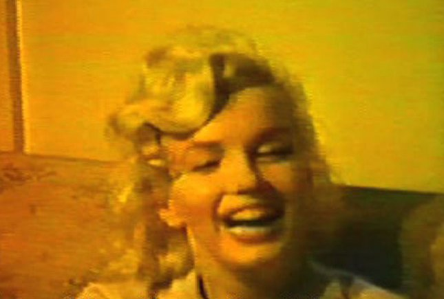 A clip from a home movie in which the late U.S. actress Marilyn Monroe is seen smoking what a friend says was a marijuana joint in an undated video frame-grab. The home movie will be featured in a documentary on Monroe's death by director Keyra Morgan, who purchased the never before seen footage for $275,000. Monroe's death on August 5, 1962, was ruled a suicide by drug overdose. UPI/Courtesy of Keya Gallery.