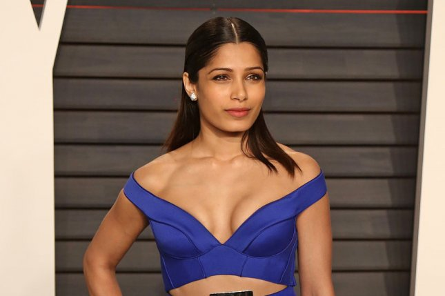 Freida Pinto attends the 2016 Vanity Fair Oscar party in Beverly Hills on February 28, 2016. File Photo by David Silpa/UPI