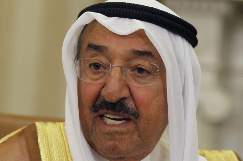 Emir Sheikh Sabah Al Ahmad Al Sabah dissolved Kuwait's parliament Sunday. The date for new elections to take place is Nov. 26. File photo by Dennis Brack/UPI/Pool