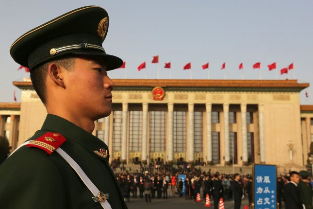 China has sent 1,000 additional troops to its border with North Korea following the news of the assassination of Kim Jong Nam, according to a Hong Kong newspaper. File Photo by Stephen Shaver/UPI
