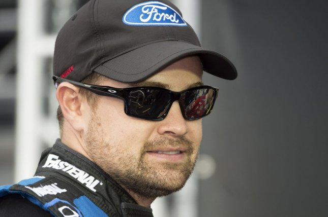Ricky Stenhouse Jr. is introduced to the spectators at the 2015 NASCAR SPRINT CUP Series Ford Ecoboost 400 race at the Homestead-Miami Speedway. File photo by Joe Marino-Bill Cantrell/UPI