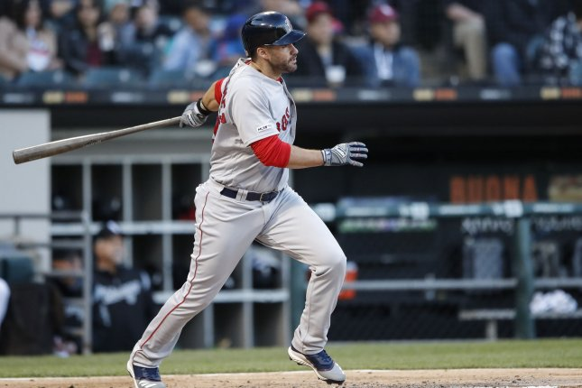 Boston Red Sox slugger J.D. Martinez can earn $62.5 million over the next three seasons by remaining with the club. File Photo by Kamil Krzaczynski/UPI