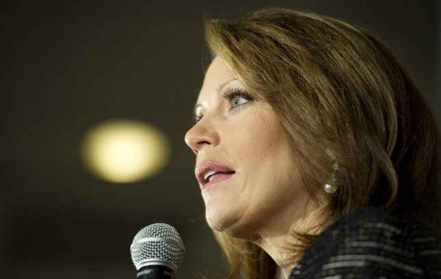 U.S. Rep. Michele Bachmann said she'll remain a candidate in Minnesota's 6th Congressional District, even though her home was remapped into another district. Jan. 4 file photo. UPI/Brian Kersey