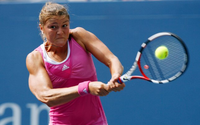 Dinara Safina, shown during this year's U.S. Open, escaped the upset bug that took out three favorites Friday at a tournament in Tokyo. (UPI Photo/John Angelillo)