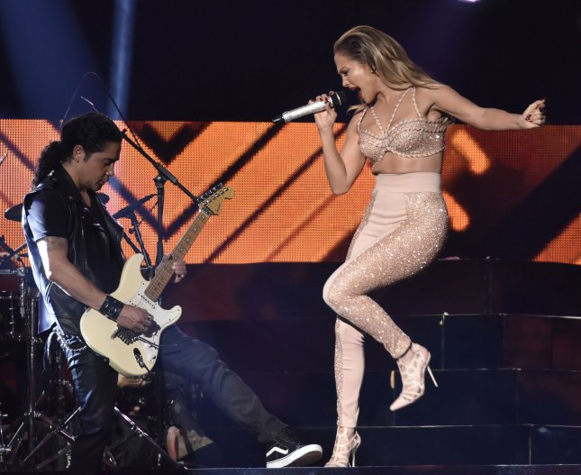 Jennifer Lopez pays tribute to late singer Selena and performs during the 2015 Billboard Latin Music Awards and show at the Bank United Center, University of Miami, Coral Gables, Florida on April 30, 2015. File photo by Gary I Rothstein/UPI