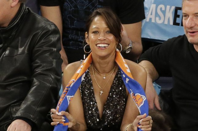 Stacey Dash watches the New York Knicks play the Orlando Magic on January 23, 2015. File Photo by John Angelillo/UPI
