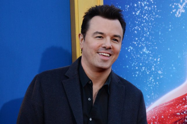 Seth MacFarlane attends the premiere of Sing on December 3. MacFarlane stars in the first trailer for new Fox series, The Orville alongside Adrianne Palicki. File Photo by Jim Ruymen/UPI