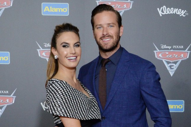 Armie Hammer and his wife Elizabeh Chambers attend the premiere of Cars 3 on June 10. Hammer stars alongside Timothee Chalamet in the trailer for Call Me by Your Name. File Photo by Jim Ruymen/UPI
