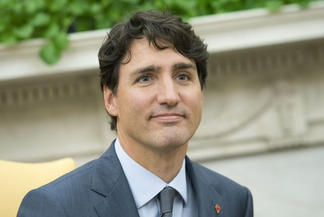 Canadian Prime Minister Justin Trudeau speaks to reporters during a meeting with President Donald Trump at the White House on October 11, 2017. Photo by Kevin Dietsch/UPI