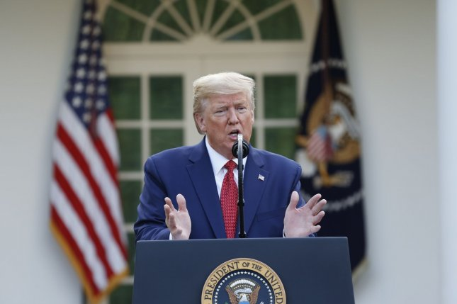 President Donald Trump on Sunday extended guidelines to prevent the spread of COVID-19 through April 30  as the United States has nearly 140, 000 cases and more than 2,000 deaths due to the coronavirus. Photo by Stefani Reynolds/UPI