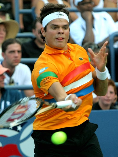 Milos Raonic, shown in a 2012 file photo, picked up his fifth ATP title with a win Sunday over Tomas Berdych at the Thailand Open. UPI Photo/Monika Graff