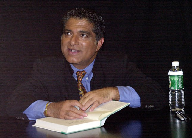 Deepak Chopra appears at a New York City Barnes and Noble store. University of Waterloo researchers used tweets from the New Age writer as examples of pseudo-profound bull[expletive] in a new study. File Photo by Ezio Petersen/UPI