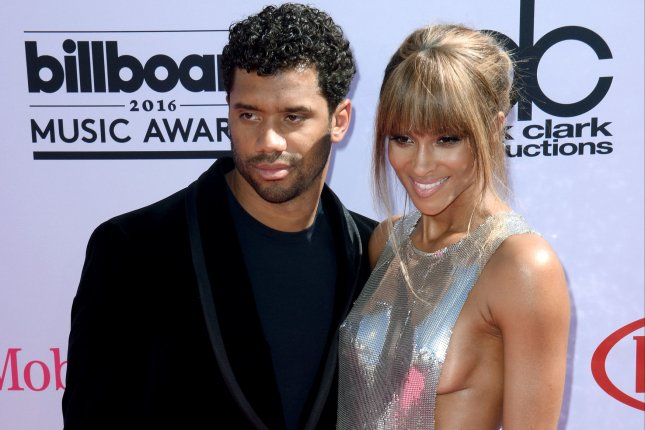 Ciara and Russell Wilson attend the annual Billboard Music Awards on May 22, 2016. Ciara has shared photos from her wedding to Russell Wilson on social media. File Photo by Jim Ruymen/UPI