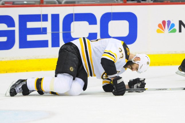 Boston Bruins defenseman Zdeno Chara put up 14 points this season for Boston, scoring nine goals with five assists in 62 games. File Photo by Mark Goldman/UPI